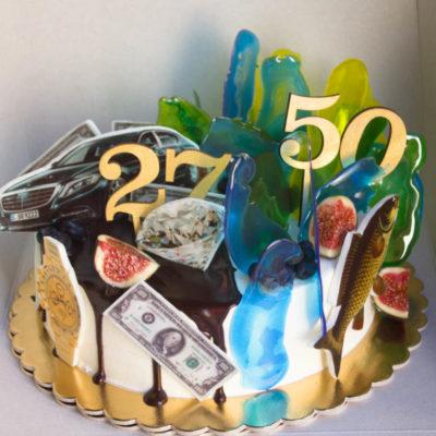 Narozeninový dort pro muže Business 4 (2 kg, 1450 kč)