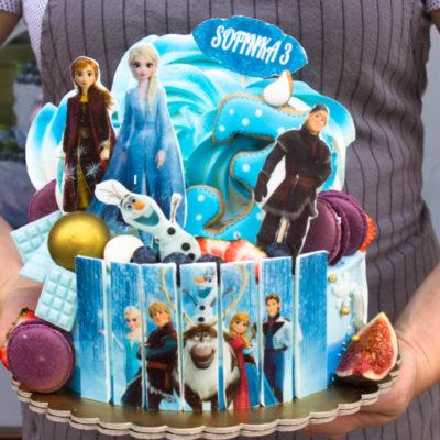 Dětský dort na objednávku Frozen 23 (2 kg 1450 kč)