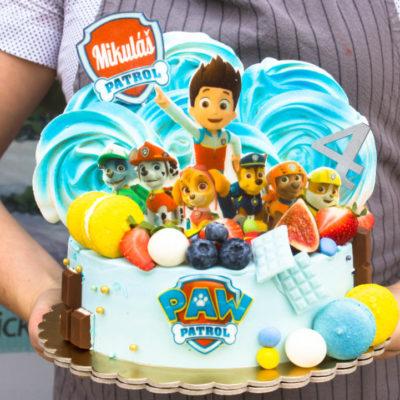 Dětský narozeninový dort Tlapková patrola 16 (2 kg, 1450 kč)