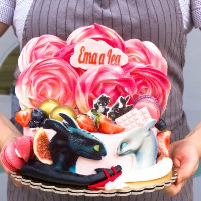 Dětský narozeninový dort Bezzubka 5 (2 kg, 1450 kč)