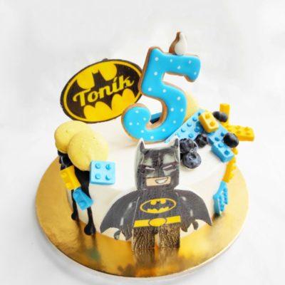Dětský narozeninový dort Lego Batman 2 (1,5 kg, 1200 kč)