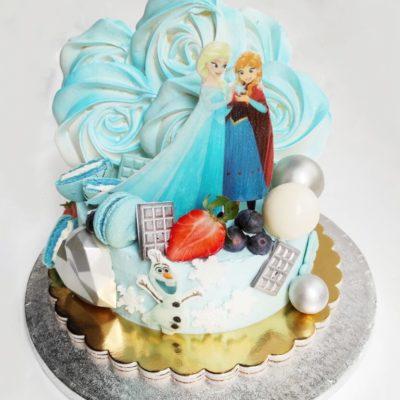 Dětský dort pro holku Frozen 29 (1,5 kg, 1200 kč)