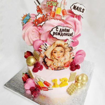Narozeninový dort pro slečnu Kosmetika 2 (4 kg, 2500 kč)