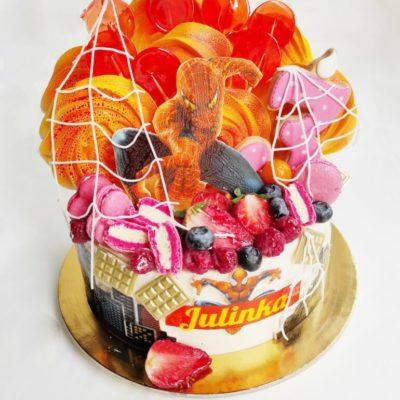 Dětský narozeninový dort Spiderman 6 (1,5 kg, 1200 kč)