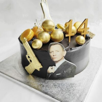 Dětský dort pro kluka «Bond 007» (3) (3 kg, 1950 kč)