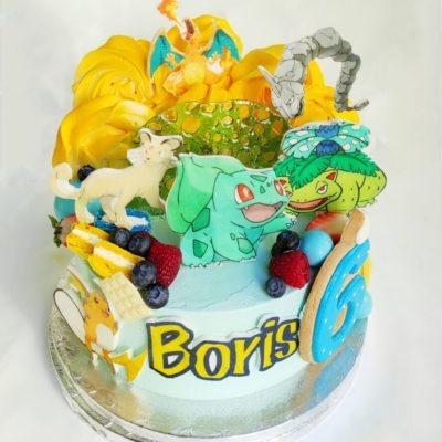 Dětský dort pro kluka Pokemon 12 (2 kg, 1450 kč)
