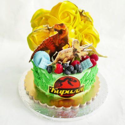Dětský narozeninový dort Dinosaurus 12 (1,5 kg, 1200 kč)