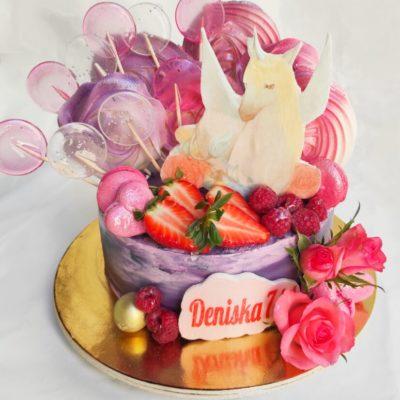 Dětský dort pro holku Kůň 4 (2 kg, 1450 kč)
