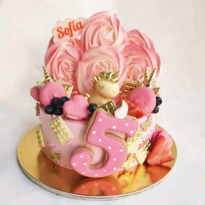 Narozeninový dort pro slečnu Čokoládový jednorožec 8 (1,5 kg, 1200 kč)