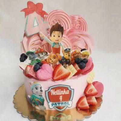 Dětský dort pro holku Tlapková Patrola 18 (1,5 kg, 1200 kč)