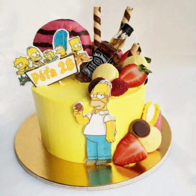 Narozeninový dort pro muže Simpsons 3 (2 kg, 1450 kč)