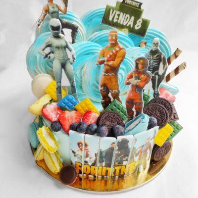 Dětský narozeninový dort Fortnite 12 (2 kg, 1450 kč)
