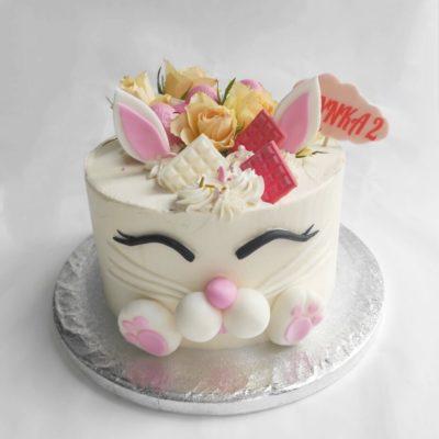 Dětský narozeninový dort Zajíček 10 (2 kg, 1450 kč)