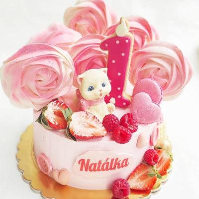 Dětský narozeninový dort Čokoládová Kočička (2 kg, 1450 kč)