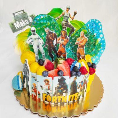 Dětský narozeninový dort Fortnite 13 (2 kg, 1450 kč)