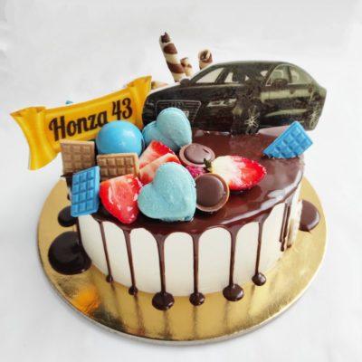 Narozeninový dort pro muže Audi (2 kg, 1450 kč)
