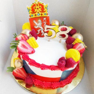 Narozeninový dort pro muže Česká vlajka (2 kg, 1450 kč)