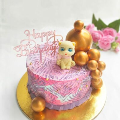 Dětský dort pro holku Čokoládová Kočička 3 (2 kg, 1450 kč)