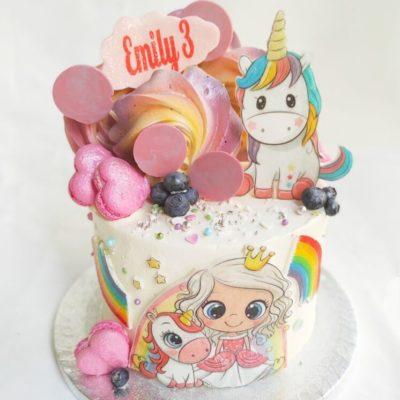 Dětský dort pro holku Princezna 11 (2 kg, 1450 kč)